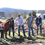 Ground-breaking for Fellowship Hall